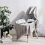 ALPHA HOME Acrylic Knitted Bed Throw Blanket for Couch Sofa 50'x60' Soft Warm Lightweight Durable...