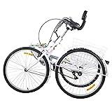 Folding Adult Tricycle 3 Wheel Trike Bike 24 inch 7 Speed