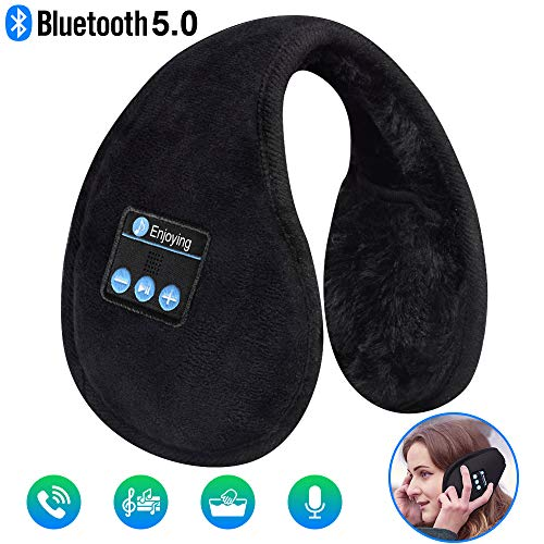 Bluetooth Ear Muffs Headphones Ear Warmers, EverPlus Unisex Fordable Ear Warmers, Gift for Men Women Kids Christmas, Bluetooth 5.0 Wireless Music Earmuffs Headsets with Microphone for Winter Outdoor