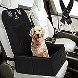 Wimypet Seggiolino Auto per Cani di Piccola Media Taglia, Antiscivolo Seggiolino Auto Cane Impermeabile, Lati Robusti Trasportino Cane con Cintura di Sicurezza
