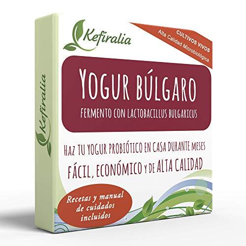 Fermento de Yogur Búlgaro (Reusable de forma ilimitada) + I