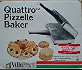 Villaware Quattro Pizzelle Cookie Maker Baker 5100-ns