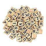 JieGuanG 100 Pièces Alphabet en Bois, Les Lettres en Bois, L'orthographe des...
