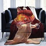 kangconnie03 Couverture de Lapins crétins de Dessin animé, couvertures moelleuses en Molleton Super Doux, faciles à Entretenir, Toute Saison, qualité appropriée