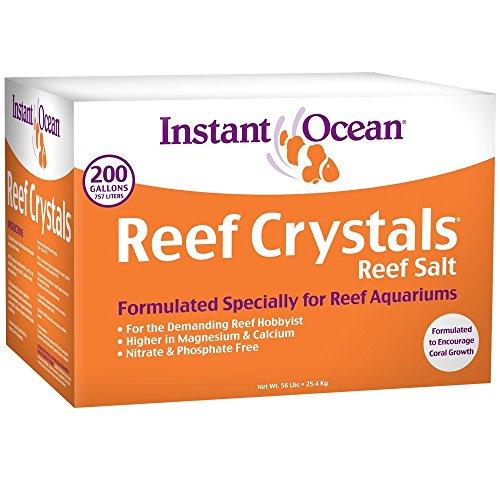 Instant Ocean Reef Crystals Reef Salt For 200 Gallons, Enriched Formulation For Aquariums
