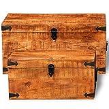 Cofre de Almacenamiento de Caja Retro de 2 Piezas de Vintage Manejo de Mango Documentos Herramientas de Valor
