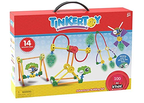 Tinkertoy Adventures Building Set - 100 Parts - Ages 3 & Up - Creative Preschool Toy
