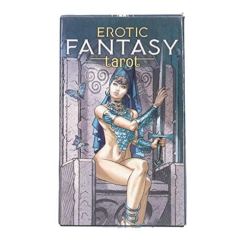 Tarot Cards Deck, Fantasy 78 Pcs English Version Fortune...