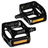 Feiger Mountain Bike Pedals, 1 Pair Road Bike Pedals Universal 9/16-inch Lightweight Non-Slip Aluminum Platform Pedal Ultra Sealed Bearing for Road Mountain BMX MTB Bicycle