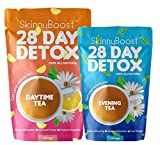Skinny Boost 28 Day Detox Kit- Best Weight Loss Slimming Detox Tea 1 Daytime Tea (28 Bags) 1 Evening Tea (14 Bags) Detox, Cleanse, Speed up Metabolism, Lose Weight Naturally with The 2 Step System!
