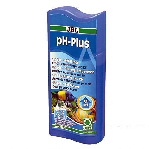 JBL ph-Plus 23057 Wasseraufbereiter zur Erhöhung der pH-Werte für Süß- und Meerwasser Aquarien, 250 ml