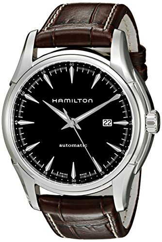 Hamilton Herren Analog Automatik Uhr mit Leder Armband H32715531
