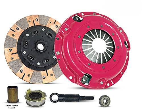 Clutch Kit And Sleeve compatible with Forester Impreza Legacy X Base Limited Premium Touring Outback L H6 L.L. Bean VDC Sedan Wagon 1996-2012 2.0L H4 2.5L H4 3.0L H6 (Dual Facing Disc Stage 2)