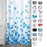 Ridder 403310–00Rideau de douche en textile, plastique, bleu, 200x 180cm