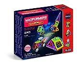 Magformers Space Wow Alien 22 Pieces Set, Rainbow Colors, Educational Magnetic Geometric Shapes Tiles Building STEM Toy Set Ages 3+ (Toy)