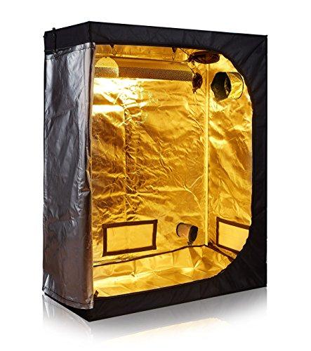 TopoLite 48'x24'x60' Indoor Grow Tent Room 600D Mylar Hydroponic Growing Plant w/Plastic Corner (48'x24'x60')
