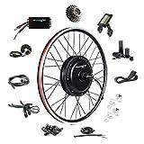 "EBIKELING 48V 1500W 26"" Direct Drive Waterproof Electric Bicycle Rear Wheel Ebike Conversion Kit (Rear/LCD/Twist)"