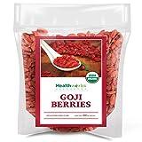 Healthworks Raw Goji Berries (32 Ounces / 2 Pound) | Certified Organic & Sun-Dried | Keto, Vegan & Non-GMO | Baking, Teas & Smoothies | Antioxidant Superfood (Grocery)