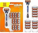 Gillette Fusion 5 Maquinilla de Afeitar Hombre + 11 Cuchillas de Recambio,...