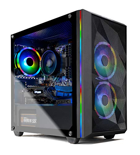 Skytech Chronos Mini Gaming PC Desktop - AMD Ryzen 3 3100, NVIDIA GTX 1650 Super 4GB, 8GB DDR4,...