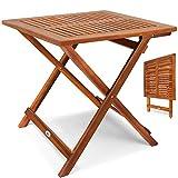 Deuba Gartentisch Klapptisch Akazie Holz Klappbar Beistelltisch Holztisch - 2