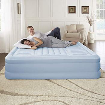 """Simmons Beautyrest Lumbar Supreme Adjustable Tri-Zone Support Air Bed Mattress with Built-in Pump, Silver 18"""" Queen"""