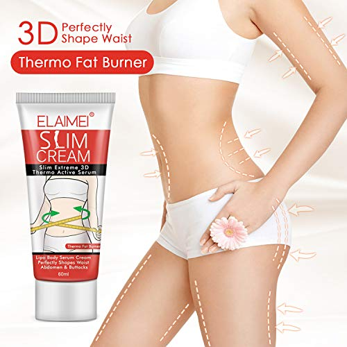 Hot Cream (2PCS), Extreme Cellulite Slimming & Firming Cream, Body Fat Burning Massage Gel Weight Losing, Hot Serum Treatment for Shaping Waist, Abdomen and Buttocks (slim cream 2pcs) 7