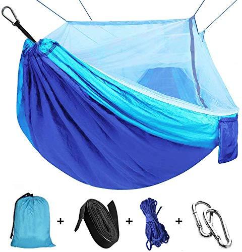 Hamac avec moustiquaire, Hamac Ultra-léger de Voyage Camping Nylon à...