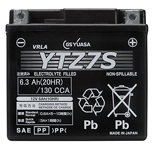 GS YUASA [ ジーエスユアサ ] シールド型 バイク用バッテリー [ 液入充電済 ] YTZ7S