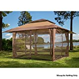 Sunjoy S-GZ001-E-MN 10' x 10' Mosquito Netting Panels for Gazebo Canopy