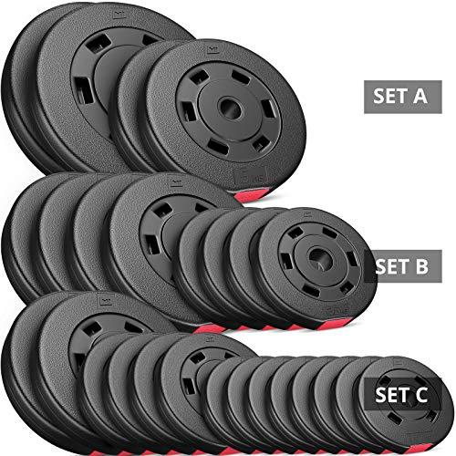 Hop-Sport | 30kg | 30 mm | Keuze uit: 2x5kg + 2x10kg / 4x2.5kg + 4x5kg / 8x1.25kg + 4x2.5 + 2x5kg