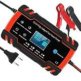 Chargeur de Batterie pour Voiture et Moto Intelligent 8A 12V/24V, Mainteneur de...