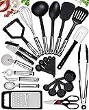 25 Kitchen Utensil Set Home Hero - Nylon Cooking Utensils - Kitchen Utensils with Spatula - Kitchen Gadgets Cookware Set - Kitchen Tool Set