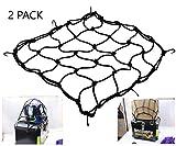 40 * 40 cm Bagages Cargo Net Bungee Bag 6 Crochets Moto Moto Casque Sac De Stockage De Stockage 2PCS(Noir)