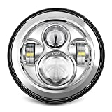 SUNPIE 7' LED Headlight for Harley Davidson Motorcycle Chrome Projector DAYMAKER HID LED Light Bulb for Jeep Wrangler JK LJ CJ LED Headlamp