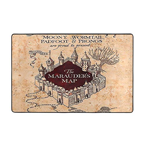 Super Soft Area Rugs Living Room Carpet Bedroom Rug for Children Play Solid Home Decorator Floor Rug and Carpets 60 X 39 Inch(I Like Exercise Marauders Map )