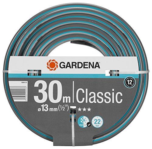 """GARDENA Classic Schlauch 13 mm (1/2\""""), 30 m: Universeller Gartenschlauch aus robustem Kreuzgewebe, 22 bar Berstdruck, druck- und UV-beständig (18009-20)"""