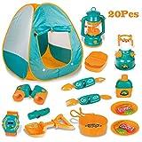 LBLA Tente De Camping Enfant avec Cuisine et Kit de Survie Accessoires...