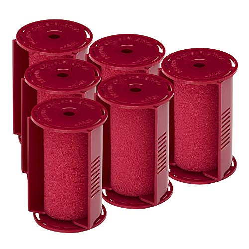 Caruso Professional Large Molecular Replacement Steam Hair Rollers with Shields, 6-Pack, 1-1/2' Inches