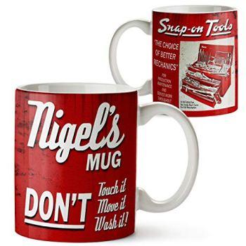 KRAFTYGIFTS Personalised SNAP ON TOOLS Garage Mug Custom Retro Oil Can Vintage Cup OCM09