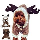 GossipBoy linda disfraces perros, reno pretendido, ropa para Yorkshire Terrier, Chihuahua, Pomeranian, etc., suéter mascotas, Navidad Halloween cosplay party foto de vacaciones disparos festival, S