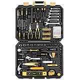 DEKOPRO 208 Piece Tool Set,General Household Hand Tool Kit with Plastic Toolbox Storage Case