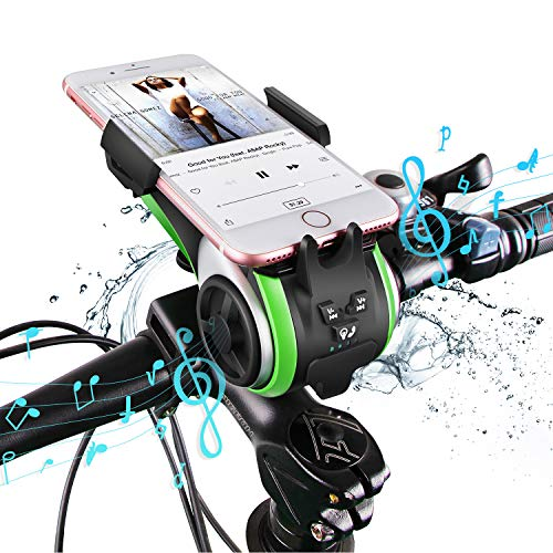 10-in-1 Bicycle Phone Mount - Speaker, Charger, Bell & Lights
