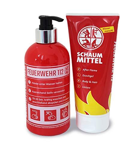 Geschenkset Feuerwehr Duschgel und Seifenspender