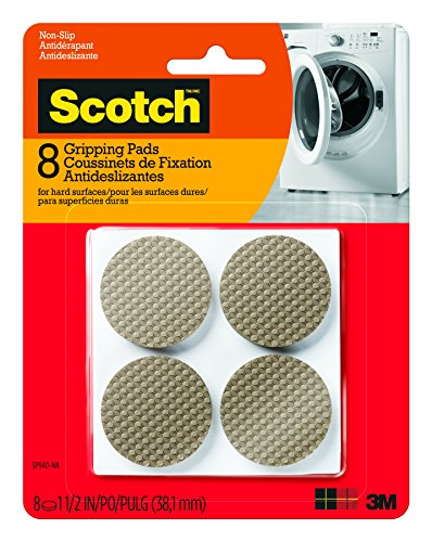 Scotch Gripping Pads, Round, Brown, 1.5-in Diameter, 8 Pads/Pack (SP940-NA)