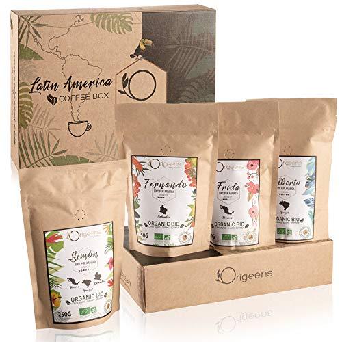 ☘️ BIO Kaffeebohnen Probierset 1kg | Premium Arabica Kaffee Ganze Bohnen Set 4x250g |...