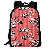 Mic Key Mouse Minnie Anime Bolso de Hombro Mochila Escolar Mochila para niños pequeños Mochila Escolar para Mujeres Hombres, Tamaño 43X28X16Cm