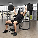 wisgofre Weight Bench Barbell Lifting Press Gym Equipment Exercise Adjustable Incline