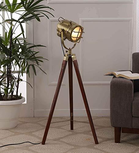 Simona Ceramic Floor Lamp, Metallic