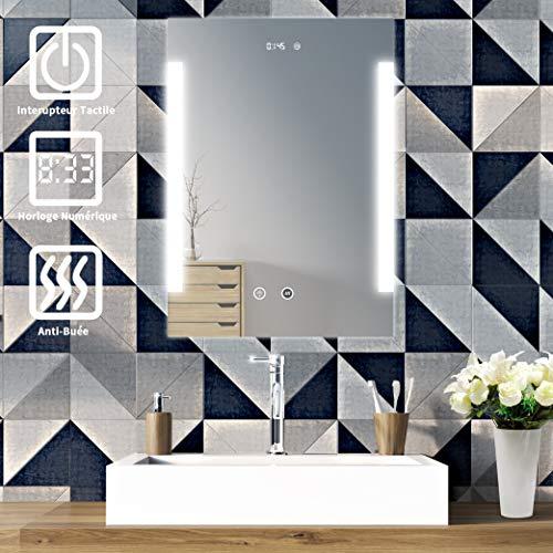 sogoo 10.5W 50 x 70cm lampada di specchio da parete, specchio da parete Stanza da bagno LED per...